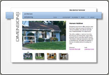 Screen shot of Architect's web site