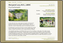 Screen shot of Psychotherapy web site