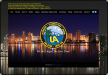Screen shot of UA Local 230 Pipefitters web site